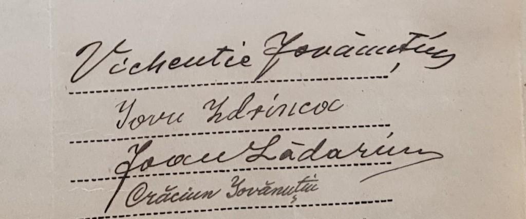 1924 – semnăturile reprezentanţilor nădăşenilor