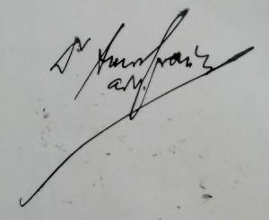 Semnătura Av. Dr. Amos Frâncu