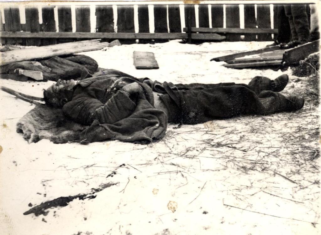 Trupul lui Teodor Șușman, fotografiat de Securitate după moartea acestuia