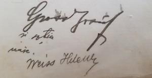 semnăturile lui Grosz Iosif şi ale soţiei Weisz Elena