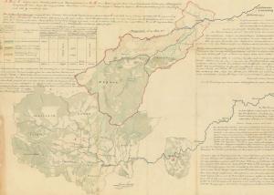 1868, harta comunelor reprezentate de Avram Iancu